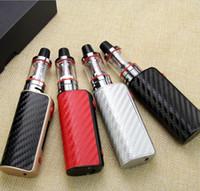 ingrosso grandi modi di fumo-Sigaretta elettronica di trasporto libero Mini 80 W scatola di mod mod vape regolabile 1600mah 0.35ohm batteria 2.5 ml serbatoio e-sigaretta Big fumo atomizzatore