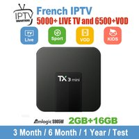 Wholesale iptv box usa for sale - TX3 mini with iptv subscription year free live tv channels French Europe Arabic India USA Sports Portugal IPTV code Android TV Box