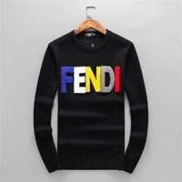 Wholesale new arrival sweater for winter resale online - Men s Fashion Letter Embroidery Knitwear Winter Men s Clothing Crew Neck Long Sleeve Sweater for Men Hoodies New Arrivals