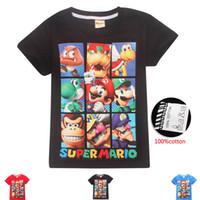 super comércio venda por atacado-DGFSTM marca verão nova versão coreana maré homens meia manga Super Mary manga curta T-shirt casual t-shirt para crianças de comércio exterior C21