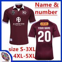 camisa alaranjada do rugby venda por atacado-2020 Queensland Maroons ESTADO DE ORIGEM JERSEY Queensland MAROONS 2020 RUGBY JERSEY Queensland MAROONS tamanho indígena de rugby Jersey S-L-5XL (pode imprimir)