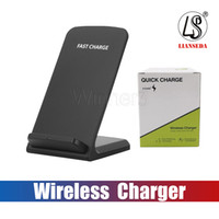 2 Coils 10W Wireless Charger Fast Qi Wireless Charging Stand Pad for Apple iPhone X 8 8Plus Samsung Note 8 S8 S7 all Qi-enabled Smartphones