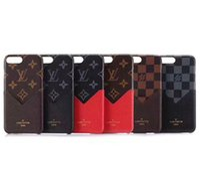 impresión en color de cuero al por mayor-Estuche de cuero para el teléfono móvil con impresión de lujo para iphone X XS Max XR 8 caja del teléfono móvil para iphone 8 7 6 6 plus