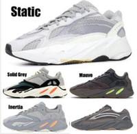 ingrosso colori scarpe da corsa uomini-Wave Runner 700 Mauve V2 Static Solid Grey Scarpe da corsa da uomo Sneaker da donna Sportive da donna 700s Scarpe da design 7 colori