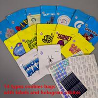 Cookies 20 Types COOKIES California SF 3.5g Mylar Bags White Runtz GEORGIA PIE MINNTZ Cake Mix cooleader Touch Skin packaging bags