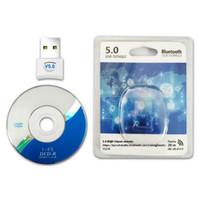 ingrosso bluetooth per il desktop-Computer USB Bluetooth Adapter 5.0USB Desktop Wireless WiFi Audio ricevitore del dongle trasmettitore per Computer PC PS4 mouse Aux