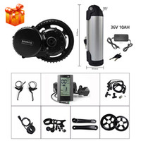 Wholesale battery bicycle kit online - BAFANG FUN BBS01 BBS02B V W Mid Drive Crank Motor Electric Bicycle Conversion Kit EBIKE Middle Engine w V AH Kettle Battery Pack
