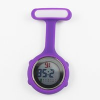 Wholesale doctors watches online - New fashion silicone rubber nurse multi function watch women ladies doctor medical hospital digital FOB pocket hang watches