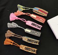artesanato de jóias venda por atacado-Famoso designer de jóias American Indian artesanato pulseiras de tecido Amuleto bordado carta pulseira para mulheres de presente de luxo