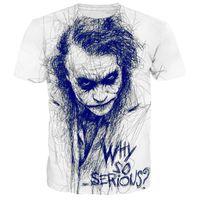 voll tshirt drucken großhandel-Fashian Casual TShirt Men Volldruck Harajuku Streetwear Fashion Shirt O-Ausschnitt Sommer Tops Plus Kleidung