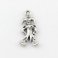 ingrosso collane di clown-Ciondoli con ciondoli pendenti in lega gioielli fai da te misura bracciali orecchini collana 100 pz / lotto argento antico 12x24mm A-487