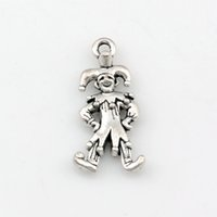 Wholesale clowns necklaces for sale - Group buy Clown Charms Pendants alloy Jewelry DIY Fit Bracelets Necklace Earrings Antique silver x24mm A