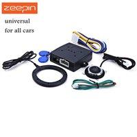 rfid kilidi sistemi toptan satış-Oto Araba Alarmı Araba Motoru Push Start Düğmesine RFID Kilidi Kontak Marş Anahtarsız giriş Çalıştırma Durdurma Immobilizer, Anti-hırsızlık Sistemi