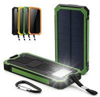bateria solar usb mah venda por atacado-Universal 20000 mah banco de energia solar à prova d 'água bateria externa carga dual usb powerbank carregador de telefone portátil para iphone 8 xs max xiaomi