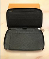 brieftaschen-organisatoren für frauen großhandel-2019 neue Luxus Designer Organizer Zippy Organizer Wallet frauen Reißverschluss Lange Brieftasche Mono Gram Canvers Leder # M60002