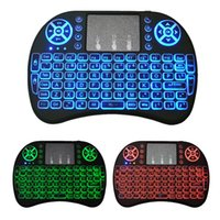 Wholesale I8 Keyboard Fly Air Mouse Remote Backlight GHz Wireless Bluetooth Remote Control For S905w S912 TV Box TX3 mini