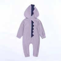 Wholesale girls wear jumpsuits resale online - Cartoon Boy Girl One Piece Clothes Comfortable Cotton Dinosaur Hooded Outdoor Lovely Baby Jumpsuits Home Wear zy Ww