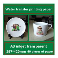 Wholesale A3 inkjet transparent water transfer printing paper Ceramic sticker glass pattern transfer