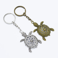 Wholesale turtles keychain for sale - Group buy 3pcs DIY Keychain Jewelry Findings Antique Silver Bronze Turtle Tortoise Pendant Keyrings Accessories Craft