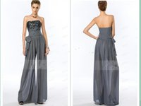 Wholesale new pants photos for sale - Group buy vestido de renda summer style Jumpsuit beading sexy robe de soiree new style long evening dress with pants Formal gown