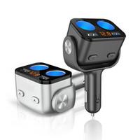 Wholesale led cigarette lighter adapter resale online - 2019 New Dual USB Car Cigarette Lighter Splitter Socket QC3 A Adapter W LED Voltage Monitor Auto Car USB Plug Converter
