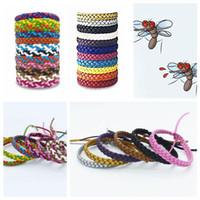 Wholesale climbing bracelet resale online - Leather Mosquito Repellent Bracelet Anti mosquito Wristband Anti mosquito Bracelet Pest Control Outdoor Gadgets CCA11532