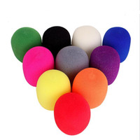 Wholesale microphone cover foam for sale - Group buy 200pcs Black Handheld Stage Foam Ball Type Mic Anti Saliva Windscreen Microphone Cover For Karaoke