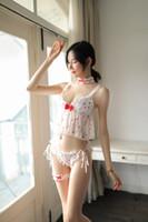 menina japonesa sexy novo venda por atacado-2019 populares longa noite lingerie nova sexy bonito menina princesa roupa interior pijama de morango japonesa set x