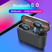 auriculares compatibles iphone al por mayor-Auriculares inalámbricos Bluetooth 5.0 Q32 Tws Auriculares manos libres Auriculares deportivos Auriculares para juegos Compatible con teléfonos universales