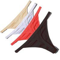 rote schwarze dame unterwäsche großhandel-Heißer verkauf sexy frauen baumwolle g string thongs low taille sexy höschen damen nahtlose underwear schwarz rot weiße haut