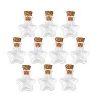 wünschte flaschensterne großhandel-1000 stücke Sternform Mini Glasflaschen Schmuck Perlen Display Phiolen Gläser Container Kleine Wishing Flasche