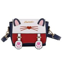 Wholesale cat embroidery bags resale online - Cute Cartoon cat Women s Crossbody Bags small Fashion Embroidery Female Shoulder Bag PU Leather girls messenger bags Handbags