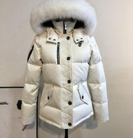 Wholesale sweden jacket men resale online - short style white Men down fill white duck jackets with fox fur trim male down parkas with ykk zipper Finland Sweden
