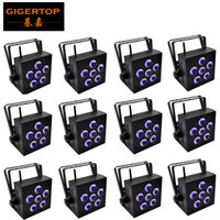 Wholesale wireless remote 12 for sale - TIPTOP Units controller WIFI LED x18W RGBWA UV Battery Powered WIRELESS DMX Par Can phone remote wireless control black housing v