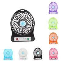 mini taşınabilir el fanları toptan satış-Taşınabilir Mini USB Fan yaz Küçük Masa Cep El Hava Şarj Edilebilir Ev Ofis çocuklar Için 18650 Pil Soğutucu oyuncaklar