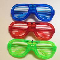 Wholesale light up eyeglasses for sale - Group buy 200pcs LED Flashing Light Up Eyeglasses EL Led Shutter Glasses Face Mask For Christmas Party Supplies