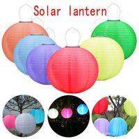 festival führte laterne großhandel-30CM LED Solarlaternen Im Freien Wasserdichte Solar Hängelampen Festival LED Hängelaternen Chinesische Feier Lichter