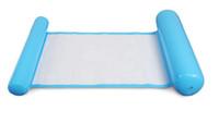 camas de água infláveis venda por atacado-Proteção ambiental dupla encosto PVC rede de dormir inflável flutuante drenagem cama flutuante única pessoa sofá cama flutuante