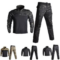 Wholesale army full combat uniform online - Army Military Uniform BDU Camouflage Breathable Combat Suit Airsoft War Game Clothes Set Quick Drying Shirts And Tactical Pants