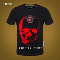 ayı ayıları toptan satış-2019 Baskılı Phillip Düz T-Shirt Moda Rahat Spor Serin O-Boyun erkek Ayı T-Shirt Yaz Kısa Kollu Erkek Giyim sg