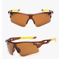 bisiklet sürme gözlükleri toptan satış-Patlamaya dayanıklı erkekler ve kadınlar güneş gözlüğü sürme gözlük bisiklet açık spor gözlük güneş gözlüğü