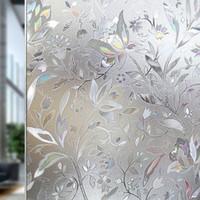 adesivo de filme de banheiro venda por atacado-Filme da janela de vidro geado da tulipa da cor de 90 * 200 Cm; Static Living Room Bedroom Banheiro Privacidade Protection Adesivos Decorativos T190704