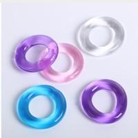 ejakulation spielzeug großhandel-Penis Ring Verzögerung Ejakulation Silikon Stretchy Donuts Penisringe Multi-Color Sex-Spielzeug für Männer und Frauen