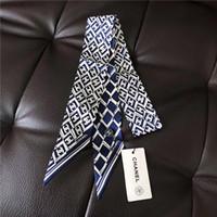 дизайн полос шеи оптовых-2019 женская мода лента шелковый шарф красивый микс дизайн девушки шейный платок резинка для волос сумка ручка обертывания маленькая шея шарфы