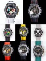 assistir luxo personalizado venda por atacado-8 estilos de fibra de carbono Custom Watch Diw mens luxo assistir 116500LN 116506 116519 7750 Movimento Woking Chronograph Mens Wristwatch Automatic
