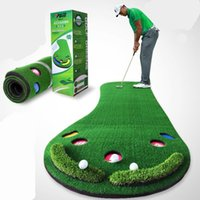 ingrosso grandi erbe-Golf Putting Mat Golf Putter Trainer Green Putter Tappeto Big Feet Trainer Mat Erba artificiale Tappeto Profess