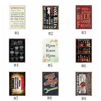 eski çubuk posterler toptan satış-Metal Boyama Motosiklet Kahve Şarap Motor Yağı Bira Kabuğu Eski Zanaat Kalay Işareti Retro Metal Boyama Posteri Bar Pub Duvar EEA446