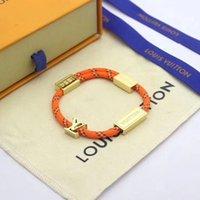 paare armband groihandel-Neue Muster Louis Hand Seil für Liebhaber wünscht Armbänder für Frauen und Männer Armband Edelstahl Dame Schmuck Partei Paar Geschenke-Box