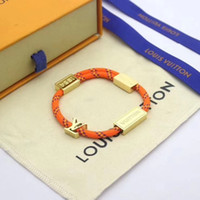 Wholesale couples wristband for sale - Group buy New pattern Louis Hand rope for lovers wishes Bracelets for Women and Men wristband Stainless steel Lady jewelry party Couple Gifts box