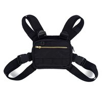 mini saco de cintura para homens venda por atacado-Mini Homens No Peito Rig Streetwear Esportes Ao Ar Livre Saco Da Cintura Escalada Bolsa De Ombro Telefone Cinto De Dinheiro No Peito